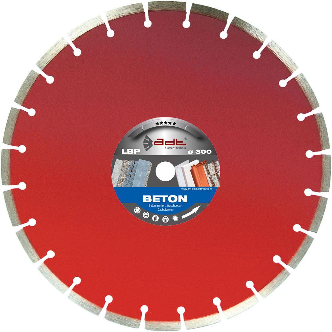 Diamantscheibe Beton & Dachpfannen lasergeschweißt 10 mm Premium Segment LBP