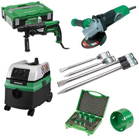 HITACHI Power Tools Winkelschleifer Bohrhammer Elektrowerkzeuge Zubehör