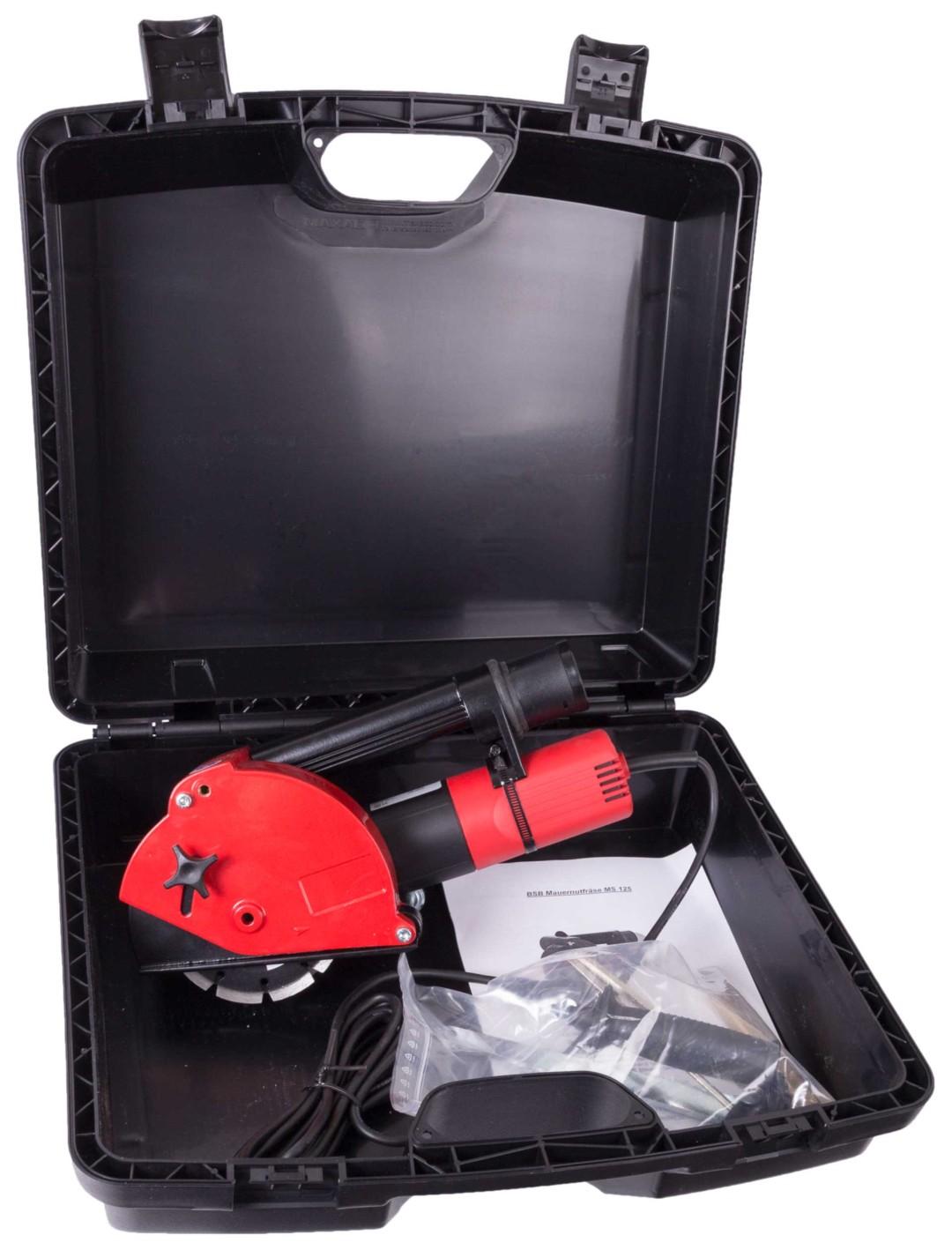 Mauernutfräse BSB 125 mit Koffer und Zubehör