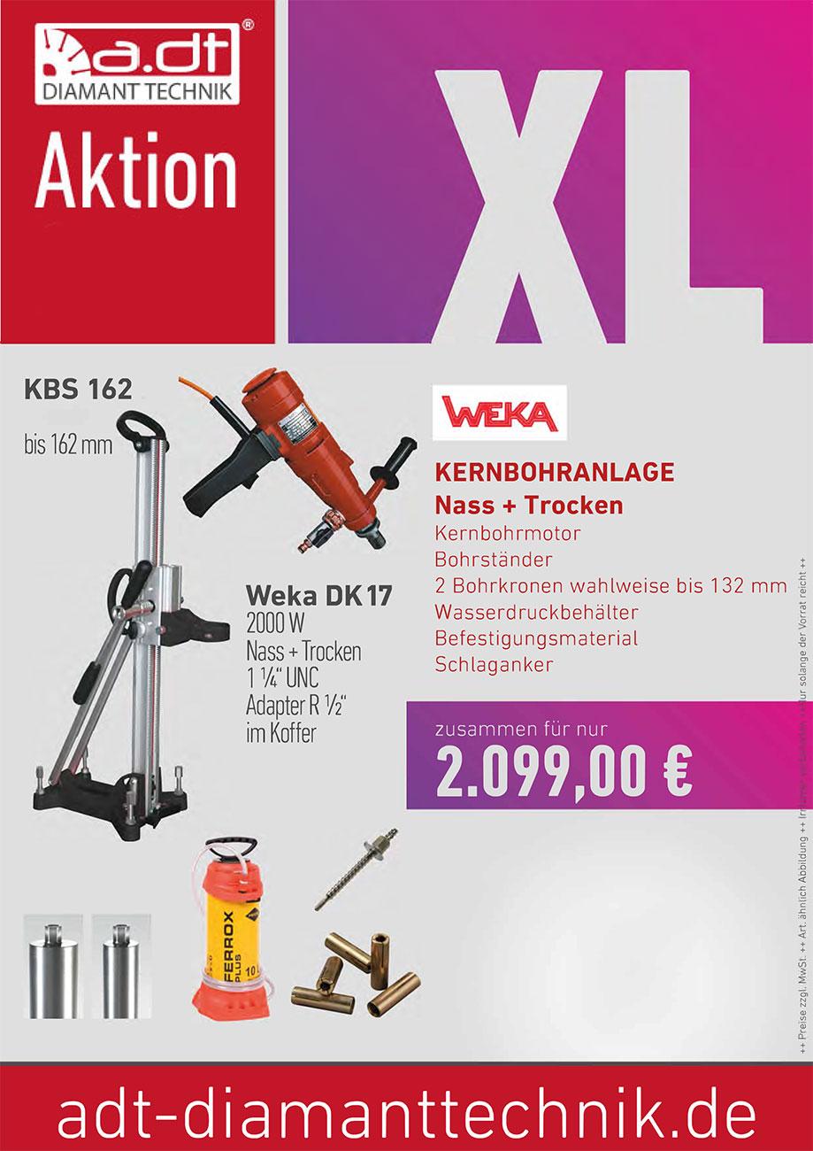 WEKA DK 17 Kernbohranalge Sonderangebot